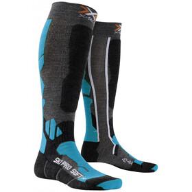 X-Bionic Ski Pro Soft Socks Anthracite/Azure